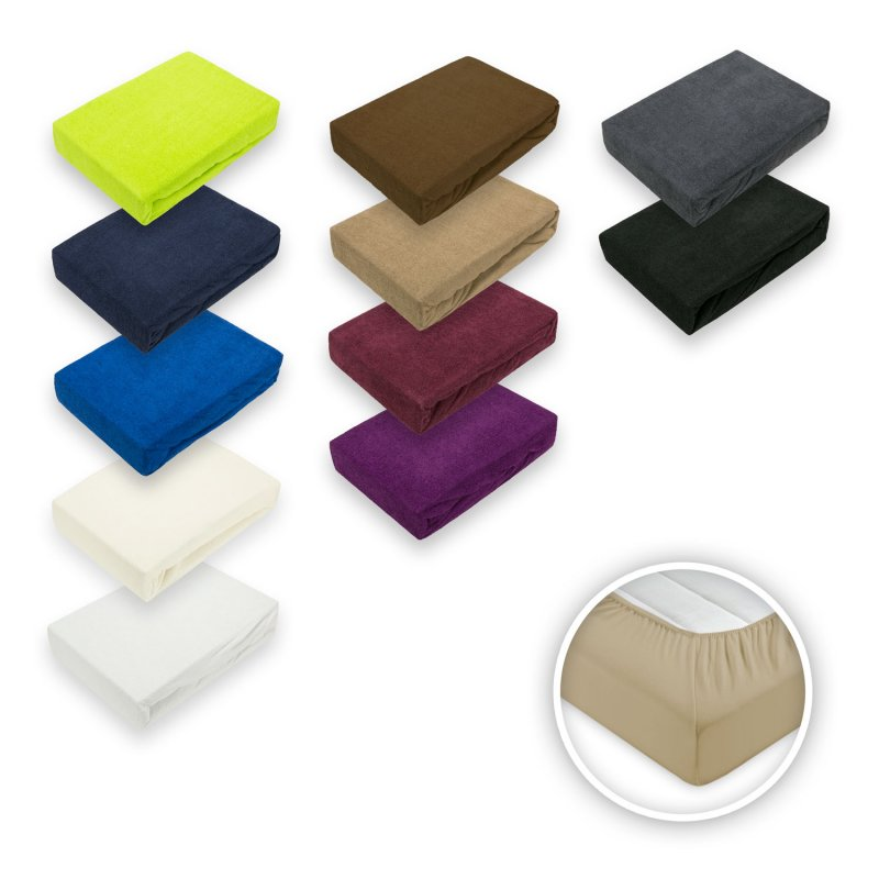 frottee spannbettlaken in verschiedenen gr en und farben. Black Bedroom Furniture Sets. Home Design Ideas