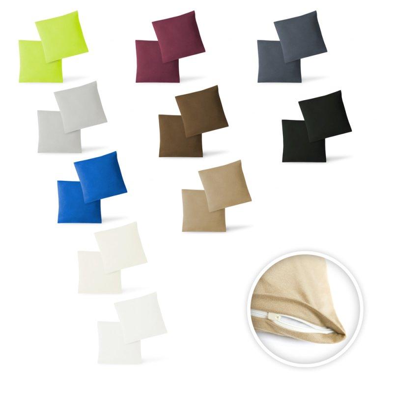 kissen bezug h lle doppelpack mit rei verschluss 100 baumwolle jers 7 06. Black Bedroom Furniture Sets. Home Design Ideas