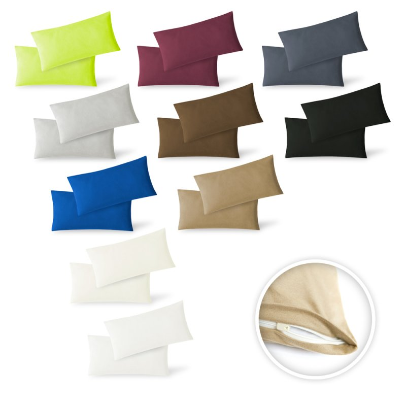 Kissenbezug Jersey 100/% Baumwolle mit Reißverschluss Kissenhülle Bezug