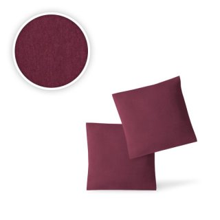 EXKLUSIV HEIMTEXTIL Jersey Kissenbezug H/ülle 2 Sparpack Set mit Rei/ßverschluss hochwertige Qualit/ät 40 x 145 cm Silber