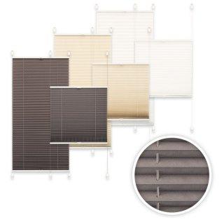 plissee verspannt mit klemmtr gern ohne bohren faltrollo fensterrollo 21 46. Black Bedroom Furniture Sets. Home Design Ideas