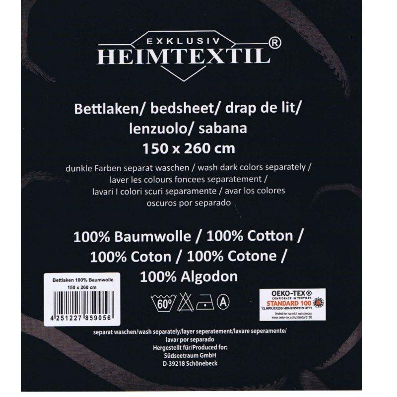 Bettlaken Bettuch Ohne Gummizug 100 Baumwolle Exklusiv