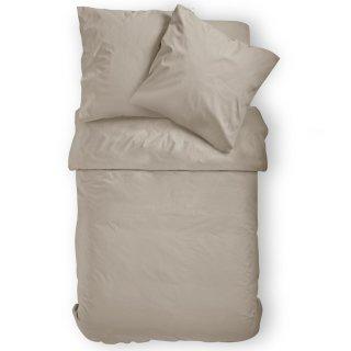 Baumwoll Bettwäsche 2 Teilig Renforcé Uni Reißverschluss Exklusiv