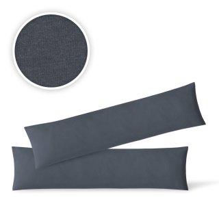 4 Stück Baumwolle Renforce Kissenbezug 40x60 cm Schwarz mit Reißverschluss Hülle