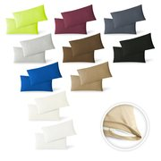 Jersey Kissenbezug 2er Set  40 x 60 cm anthrazit
