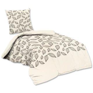 baumwoll bettw sche 2 teilig 135x200 cm 80x80 cm rei verschluss ex 16 61. Black Bedroom Furniture Sets. Home Design Ideas